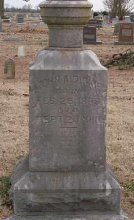 DICKEY, JOHN A. - Lonoke County, Arkansas   JOHN A. DICKEY - Arkansas Gravestone Photos