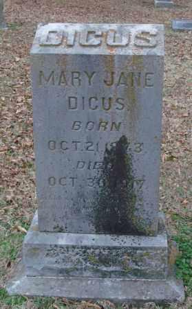 DICUS, MARY JANE - Lonoke County, Arkansas | MARY JANE DICUS - Arkansas Gravestone Photos