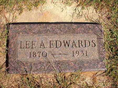 EDWARDS, LEE A - Lonoke County, Arkansas | LEE A EDWARDS - Arkansas Gravestone Photos