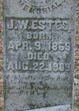 ESTES, J  W (CLOSE UP) - Lonoke County, Arkansas | J  W (CLOSE UP) ESTES - Arkansas Gravestone Photos