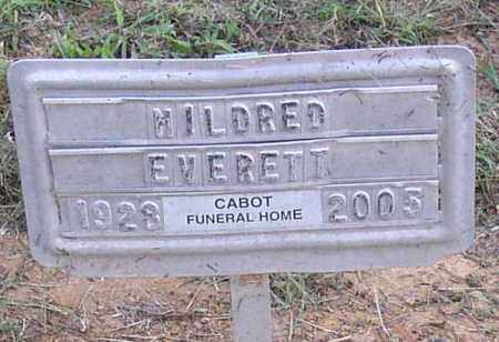 EVERETT, MILDRED - Lonoke County, Arkansas | MILDRED EVERETT - Arkansas Gravestone Photos