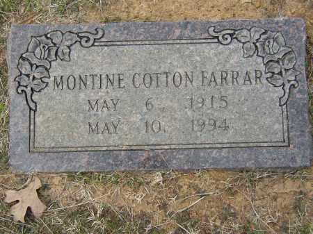 COTTON FARRAR, MONTINE - Lonoke County, Arkansas | MONTINE COTTON FARRAR - Arkansas Gravestone Photos