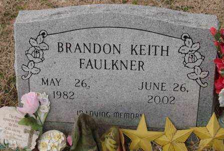 FAULKNER, BRANDON KEITH - Lonoke County, Arkansas | BRANDON KEITH FAULKNER - Arkansas Gravestone Photos
