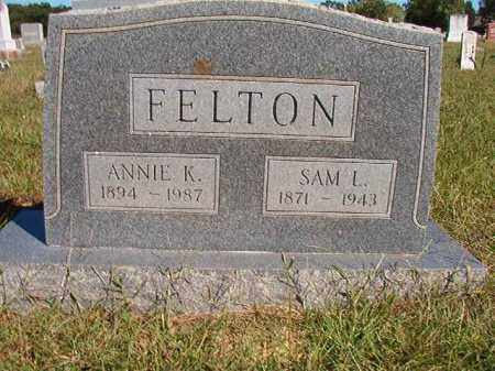 FELTON, SAM L - Lonoke County, Arkansas | SAM L FELTON - Arkansas Gravestone Photos