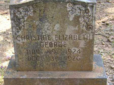 GEORGE, CHRISTINE ELIZABETH - Lonoke County, Arkansas | CHRISTINE ELIZABETH GEORGE - Arkansas Gravestone Photos