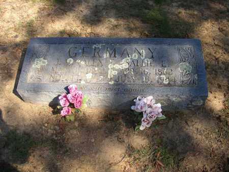 GERMANY, SALLIE E. - Lonoke County, Arkansas | SALLIE E. GERMANY - Arkansas Gravestone Photos