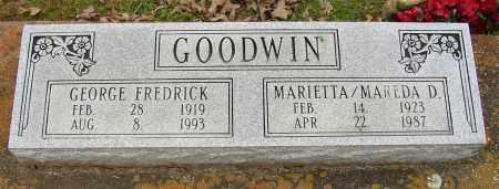 GOODWIN, GEORGE FREDRICK - Lonoke County, Arkansas | GEORGE FREDRICK GOODWIN - Arkansas Gravestone Photos