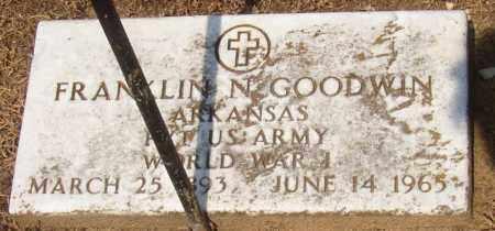 GOODWIN (VETERAN WWI), FRANKLIN - Lonoke County, Arkansas | FRANKLIN GOODWIN (VETERAN WWI) - Arkansas Gravestone Photos