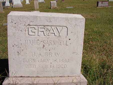 BARNWELL GRAY, MAMIE - Lonoke County, Arkansas | MAMIE BARNWELL GRAY - Arkansas Gravestone Photos