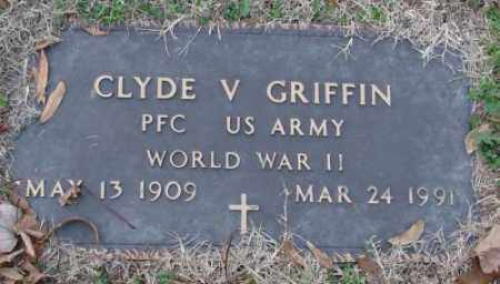 GRIFFIN (VETERAN WWII), CLYDE V - Lonoke County, Arkansas | CLYDE V GRIFFIN (VETERAN WWII) - Arkansas Gravestone Photos