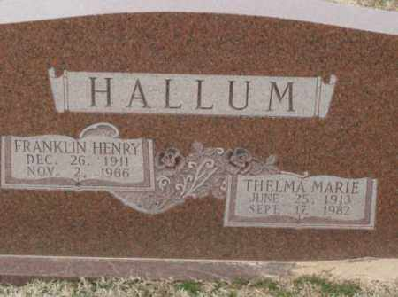 HALLUM, FRANKLIN HENRY - Lonoke County, Arkansas | FRANKLIN HENRY HALLUM - Arkansas Gravestone Photos