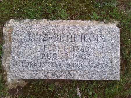 HAMM, ELIZABETH - Lonoke County, Arkansas | ELIZABETH HAMM - Arkansas Gravestone Photos