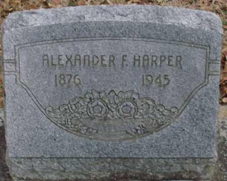 HARPER, ALEXANDER F - Lonoke County, Arkansas | ALEXANDER F HARPER - Arkansas Gravestone Photos