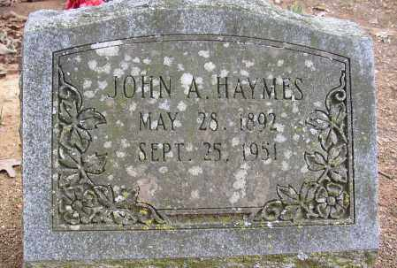 HAYMES, JOHN A. - Lonoke County, Arkansas | JOHN A. HAYMES - Arkansas Gravestone Photos