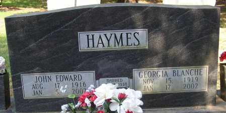 HAYMES, JOHN EDWARD - Lonoke County, Arkansas | JOHN EDWARD HAYMES - Arkansas Gravestone Photos