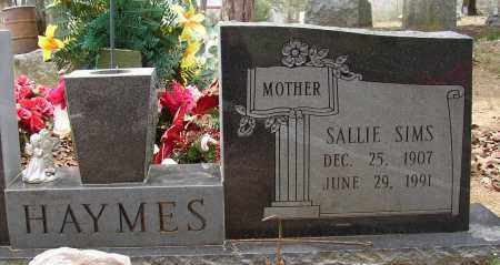 SIMS HAYMES, SALLIE - Lonoke County, Arkansas | SALLIE SIMS HAYMES - Arkansas Gravestone Photos