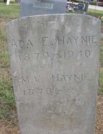 HAYNIE, M. V. - Lonoke County, Arkansas   M. V. HAYNIE - Arkansas Gravestone Photos