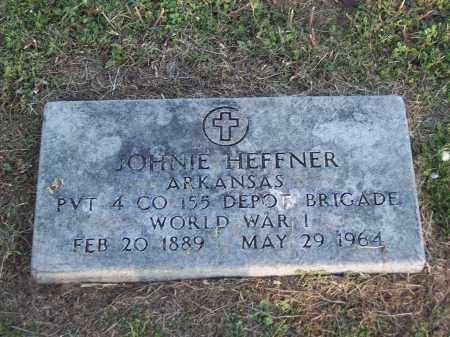 HEFFNER (VETERAN WWI), JOHNIE - Lonoke County, Arkansas | JOHNIE HEFFNER (VETERAN WWI) - Arkansas Gravestone Photos