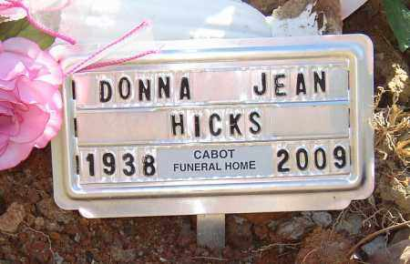 HICKS, DONNA JEAN - Lonoke County, Arkansas | DONNA JEAN HICKS - Arkansas Gravestone Photos