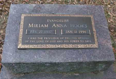 HOOKS, MIRIAM ANNA - Lonoke County, Arkansas | MIRIAM ANNA HOOKS - Arkansas Gravestone Photos