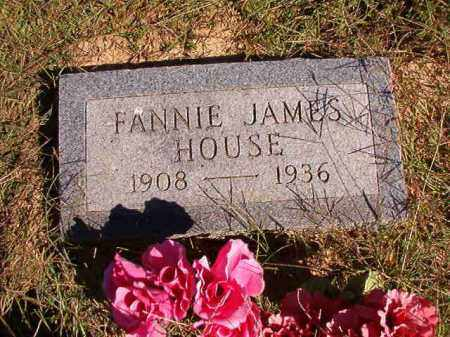 JAMES HOUSE, FANNIE - Lonoke County, Arkansas | FANNIE JAMES HOUSE - Arkansas Gravestone Photos