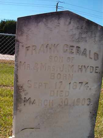 HYDE, FRANK GERALD - Lonoke County, Arkansas | FRANK GERALD HYDE - Arkansas Gravestone Photos