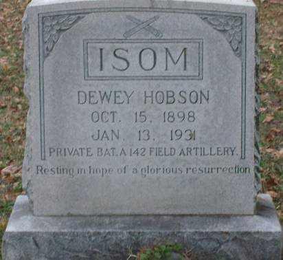 ISOM (VETERAN), DEWEY HOBSON - Lonoke County, Arkansas | DEWEY HOBSON ISOM (VETERAN) - Arkansas Gravestone Photos