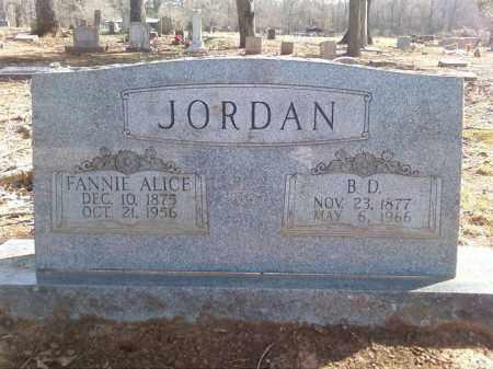 JORDAN, FANNIE ALICE - Lonoke County, Arkansas | FANNIE ALICE JORDAN - Arkansas Gravestone Photos