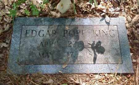 KING, EDGAR POPE - Lonoke County, Arkansas | EDGAR POPE KING - Arkansas Gravestone Photos