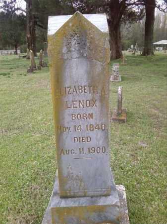 LENOX, ELIZABETH A. - Lonoke County, Arkansas | ELIZABETH A. LENOX - Arkansas Gravestone Photos