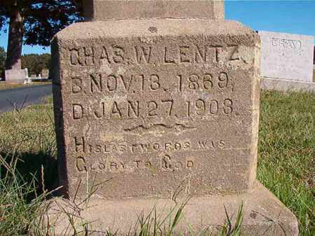 LENTZ, CHAS. W - Lonoke County, Arkansas | CHAS. W LENTZ - Arkansas Gravestone Photos