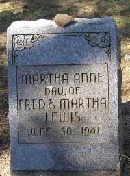 LEWIS, MARTHA ANNE - Lonoke County, Arkansas | MARTHA ANNE LEWIS - Arkansas Gravestone Photos