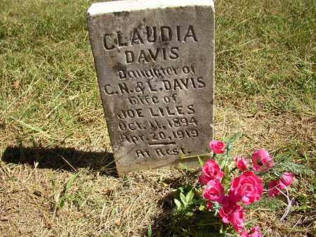 DAVIS LILES, CLAUDIA - Lonoke County, Arkansas | CLAUDIA DAVIS LILES - Arkansas Gravestone Photos
