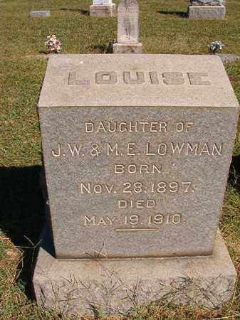 LOWMAN, LOUISE - Lonoke County, Arkansas | LOUISE LOWMAN - Arkansas Gravestone Photos