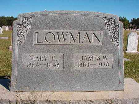 LOWMAN, JAMES W - Lonoke County, Arkansas | JAMES W LOWMAN - Arkansas Gravestone Photos