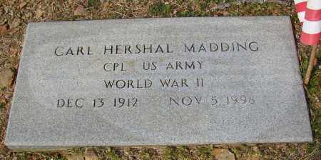 MADDING (VETERAN WWII), CARL HERSHAL - Lonoke County, Arkansas | CARL HERSHAL MADDING (VETERAN WWII) - Arkansas Gravestone Photos