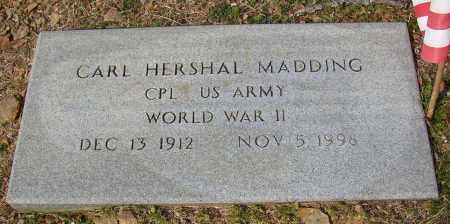 MADDING (VETERAN WWII), CARL HERSHAL - Lonoke County, Arkansas | CARL HERSHAL MADDING (VETERAN WWII) - Arkansas Gravestone Photos