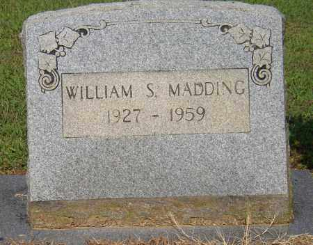 MADDING, WILLIAM S. - Lonoke County, Arkansas | WILLIAM S. MADDING - Arkansas Gravestone Photos