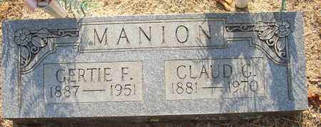 MANION, CLAUD G. - Lonoke County, Arkansas | CLAUD G. MANION - Arkansas Gravestone Photos