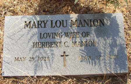 MANION, MARY LOU - Lonoke County, Arkansas | MARY LOU MANION - Arkansas Gravestone Photos