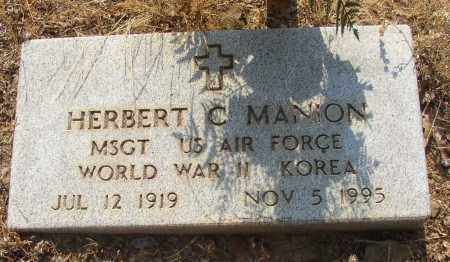MANION (VETERAN 2 WARS), HERBERT C - Lonoke County, Arkansas | HERBERT C MANION (VETERAN 2 WARS) - Arkansas Gravestone Photos