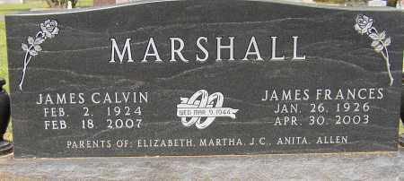 MARSHALL (VETERAN WWII), JAMES CALVIN - Lonoke County, Arkansas | JAMES CALVIN MARSHALL (VETERAN WWII) - Arkansas Gravestone Photos