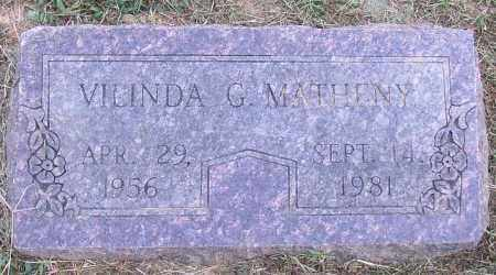 MATHENY, VILINDA G. - Lonoke County, Arkansas | VILINDA G. MATHENY - Arkansas Gravestone Photos