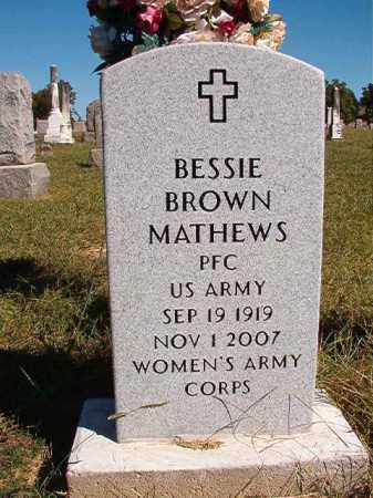 BROWN MATHEWS (VETERAN), BESSIE - Lonoke County, Arkansas | BESSIE BROWN MATHEWS (VETERAN) - Arkansas Gravestone Photos