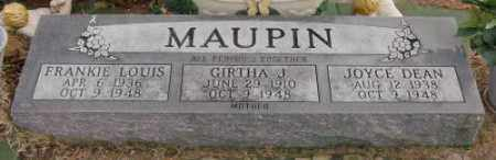 MAUPIN, FRANKIE LOUIS - Lonoke County, Arkansas | FRANKIE LOUIS MAUPIN - Arkansas Gravestone Photos