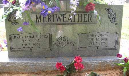 BURGESS MERIWEATHER, EMMA ELLAMAE - Lonoke County, Arkansas | EMMA ELLAMAE BURGESS MERIWEATHER - Arkansas Gravestone Photos