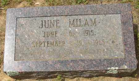 MILAM, JUNE - Lonoke County, Arkansas | JUNE MILAM - Arkansas Gravestone Photos