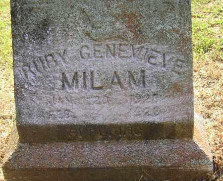 MILAM, RUBY GENEVIEVE - Lonoke County, Arkansas | RUBY GENEVIEVE MILAM - Arkansas Gravestone Photos