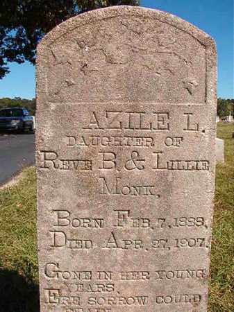 MONK, AZILE L - Lonoke County, Arkansas | AZILE L MONK - Arkansas Gravestone Photos