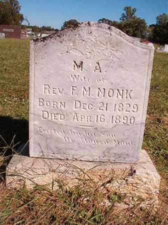 MONK, M A - Lonoke County, Arkansas   M A MONK - Arkansas Gravestone Photos